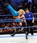 Michelle McCool goes for the Face Buster finishing move